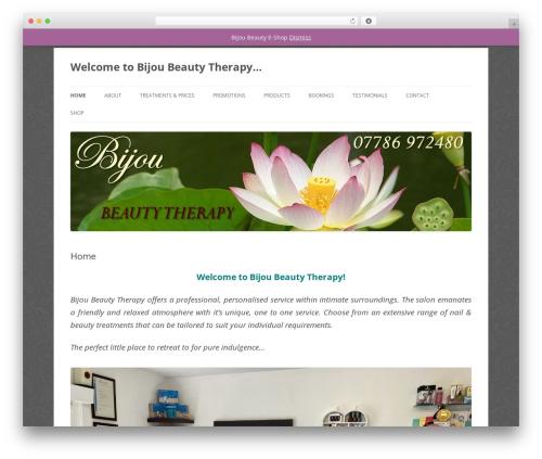 Twenty Twelve top WordPress theme - bijoubeautytherapy.co.uk
