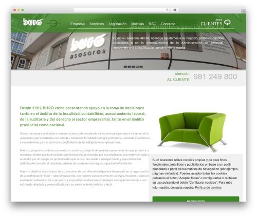 Visual theme WordPress free - buroasesores.com