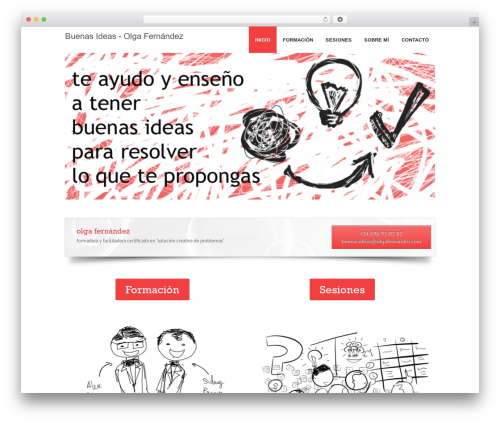 WordPress theme Fresh - buenasideas.olgafernandez.com