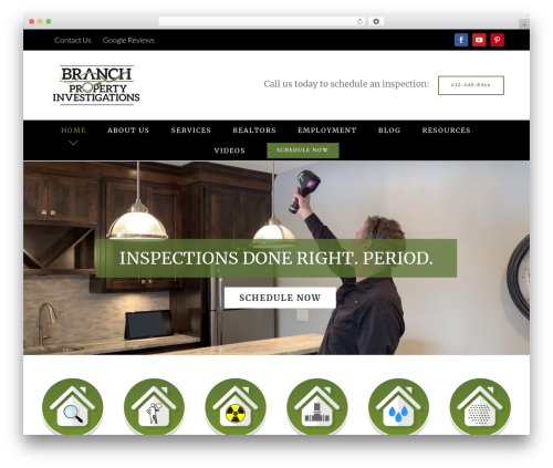 Avada WordPress theme - branchinvestigations.com