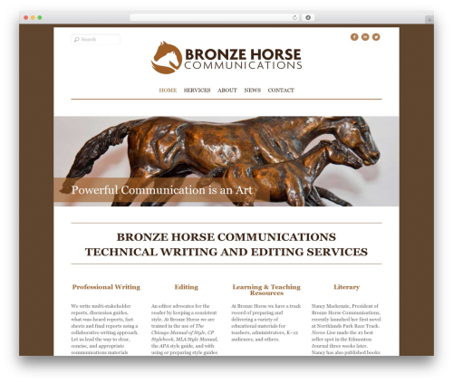 Elemin WordPress theme - bronzehorsecommunications.com