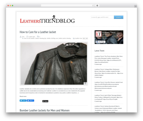 Me Gusta! fashion WordPress theme - blog.leatherstrend.com