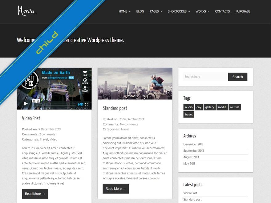 Nova Lite WordPress blog template