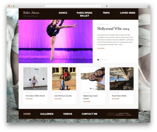 Template WordPress Zenith - balletalexia.com