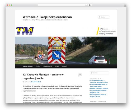 Twenty Eleven WordPress blog theme - blog.tmvia.pl