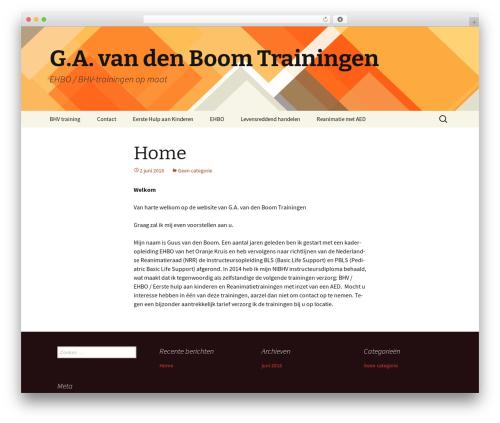 Twenty Thirteen template WordPress - boomehbo.nl