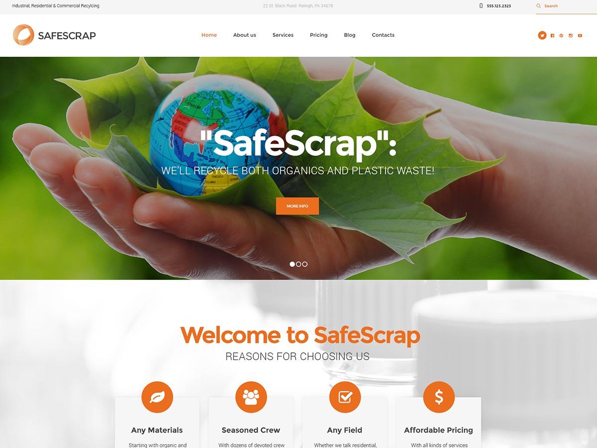 WordPress template SafeScrap