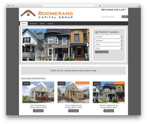 WordPress theme AgentPress Two - boomerangcapitalgroup.com