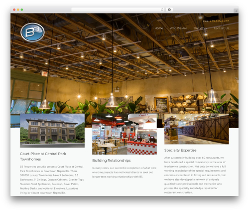 Construction WordPress theme - b3construction.net
