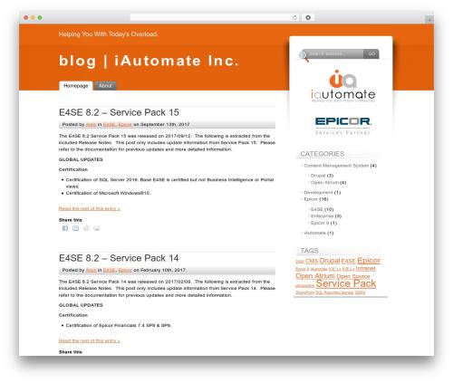 Fusion WordPress blog theme - blog.iautomate.ca