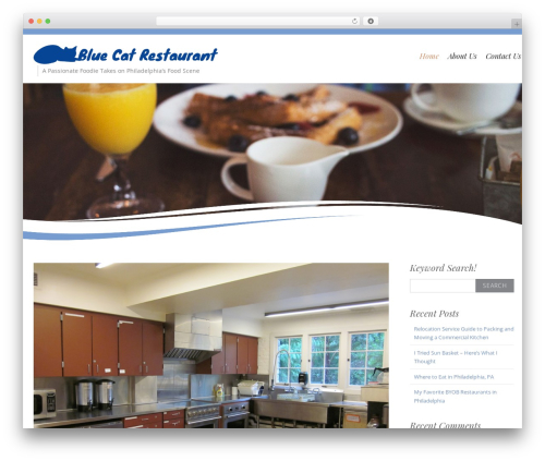Longevity free WordPress theme - bluecatrestaurant.com