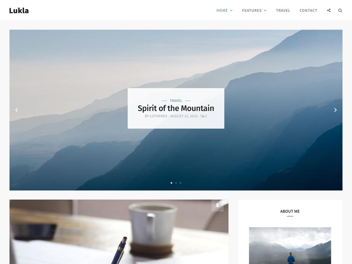 Lukla WordPress blog template