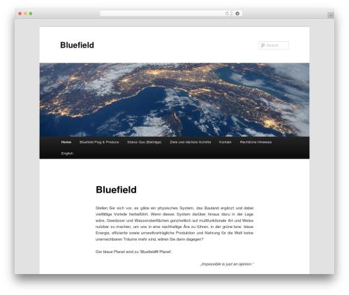 Twenty Eleven best free WordPress theme - bluefield-project.com
