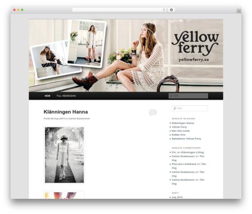 Twenty Eleven free website theme - blog.yellowferry.se