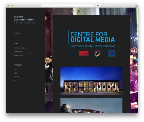 Twenty Fifteen theme WordPress - blogs.thecdm.ca