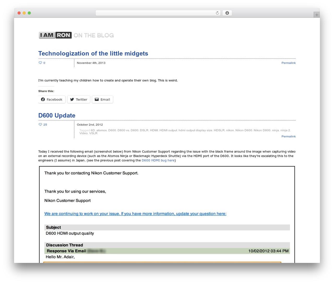 Zack 990 WordPress blog template - blog.iamron.com