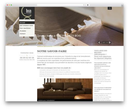 Adept style WordPress theme - boiseries-sieges-du-nord.fr