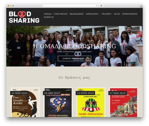 Berliner top WordPress theme - bloodsharing.org