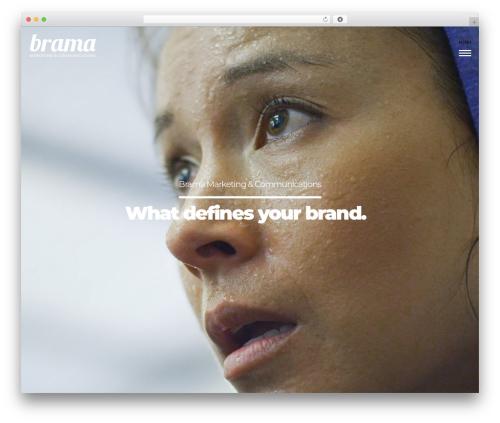 Brama theme WordPress - bramamarketing.com