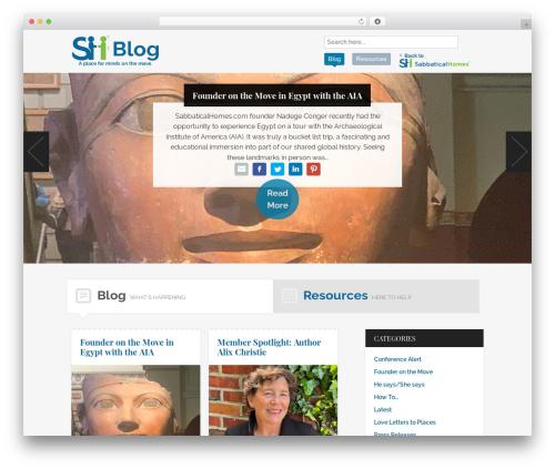 Hyper WordPress blog template - blog.sabbaticalhomes.com