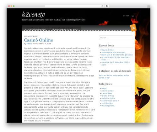 Snowblind WordPress theme design - b2veneto.it