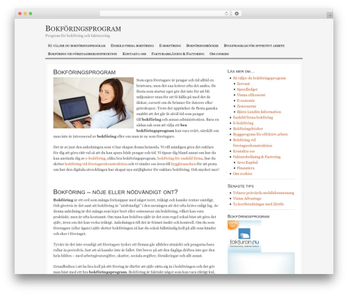 WordPress theme Georgia Child Theme - bokforingprogram.se