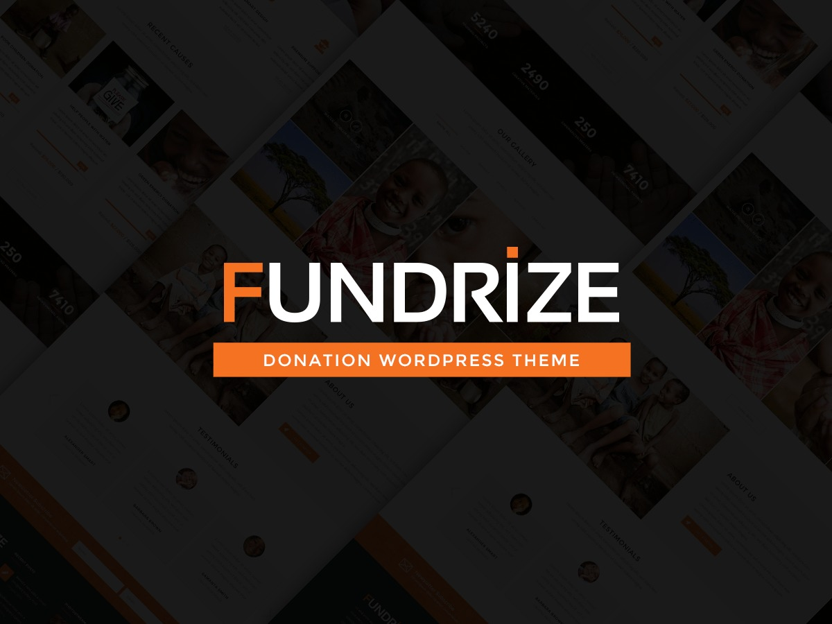 WordPress website template Fundrize