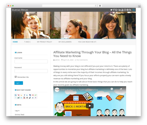 ZeroGravity best free WordPress theme - buenas-mesas.com