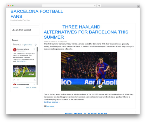 Bootstrap Basic4 WordPress page template - barcelonafootballfans.info