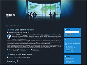 Busines Time WordPress website template