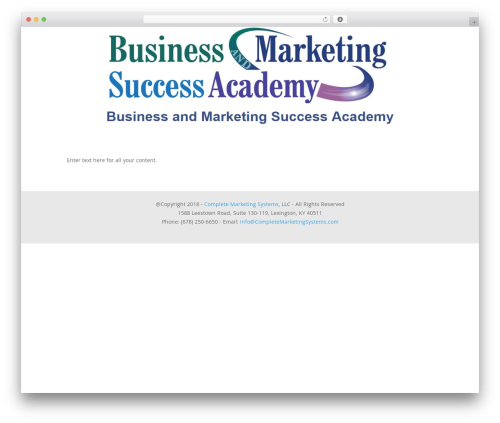 Divi business WordPress theme - businessandmarketingsuccessacademy.com