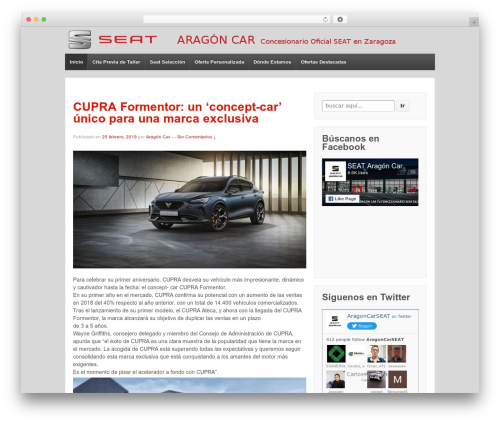 Responsive free WordPress theme - blog.aragoncar.com
