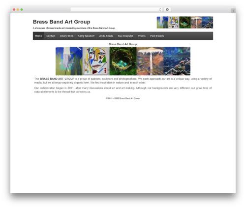 Responsive template WordPress free - brassbandartgroup.com