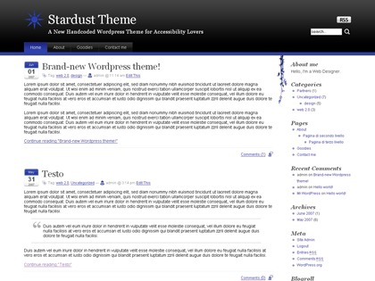 Stardust template WordPress