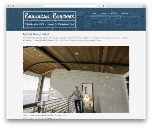 Swatch WordPress theme - branaganbuilders.com