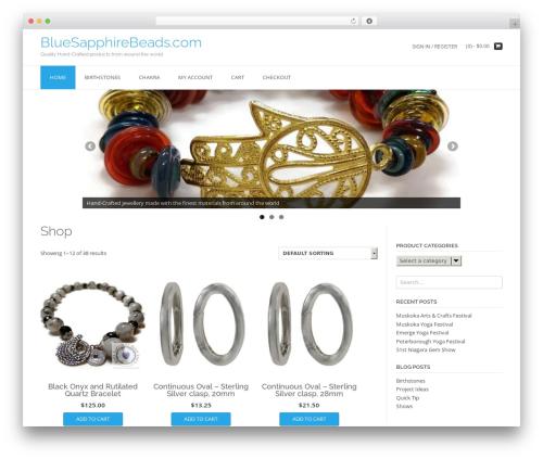 TopShop WordPress ecommerce template - bluesapphirebeads.com