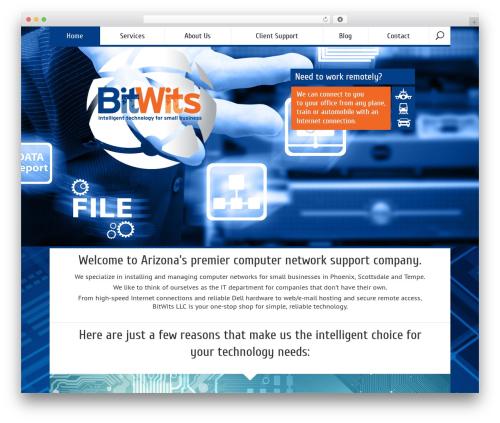 Vittoria WordPress template for business - bitwits.com