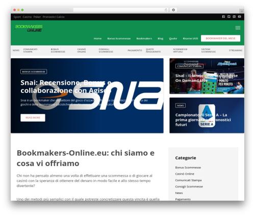 WordPress template VegasHero Sports Betting Theme - bookmakers-online.eu