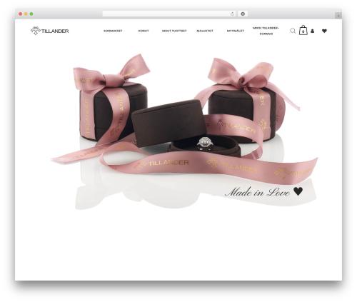WordPress theme Bazaar - tillander.fi