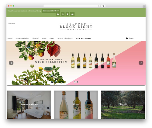 Free WordPress Top Bar plugin - blockeight.com.au