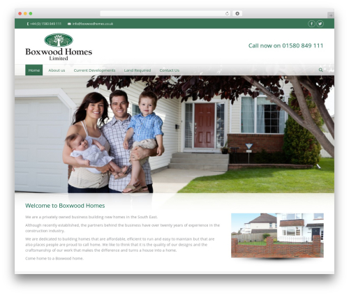 WordPress theme The7 - boxwoodhomes.co.uk
