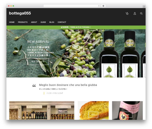 WP template Atelier - bottega055.com