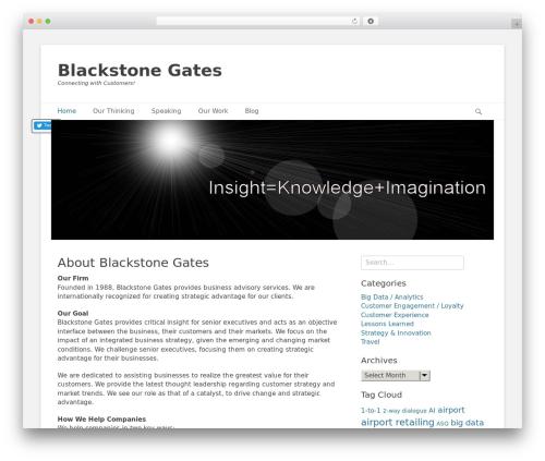 Catch Base Pro company WordPress theme - blackstonegates.com