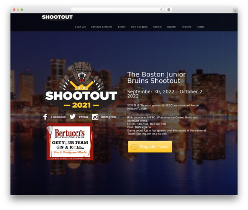 Encore WordPress theme - bjbshootout.com