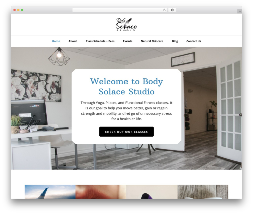 Genesis WordPress website template - bodysolacestudio.com