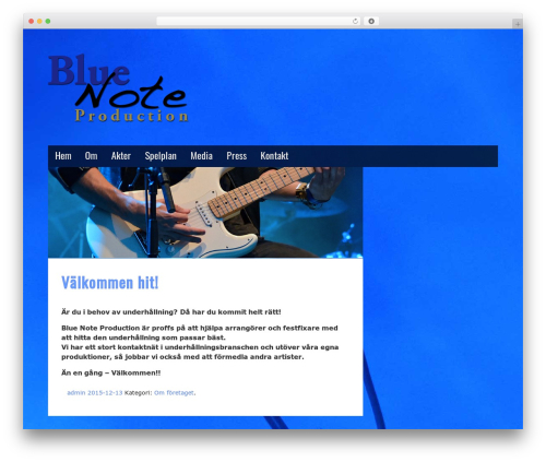 Musik best free WordPress theme - bluenotemusic.se