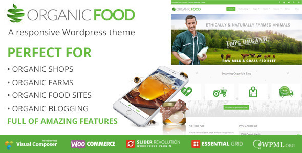 Organic Food WordPress magazine theme