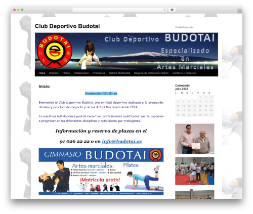 Template WordPress Twenty Ten - budotai.es