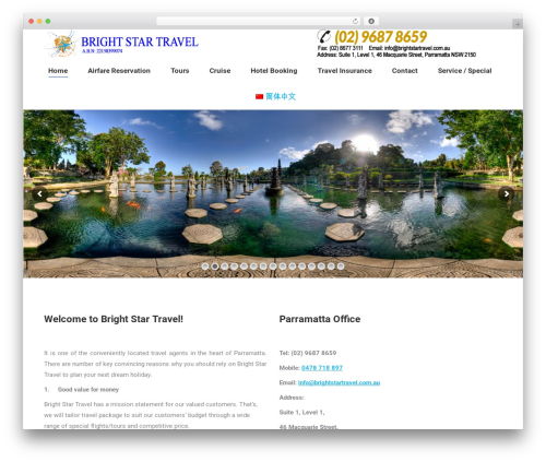 The7 theme WordPress - brightstartravel.com.au