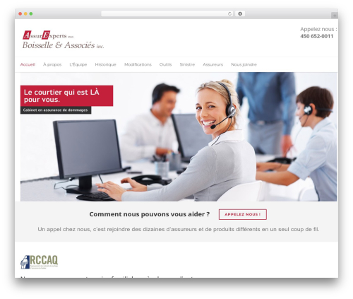 Unicon WordPress theme - boisselle.ca